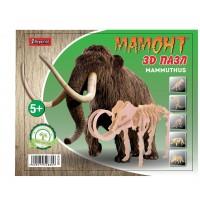 """Набор 3D пазл динозавр """"Mammoth"""", деревянный."""