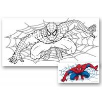 "Холст с контуром ""Человек-паук"" (15см*30см)"