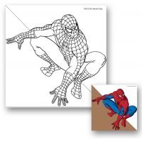 "Холст с контуром ""Человек-паук"" (25см*25см)"